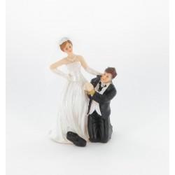 "Figurine de mariés ""homme menotté"""