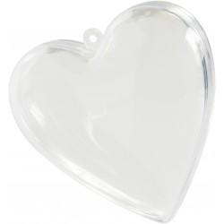 Coeur transparent 8cm