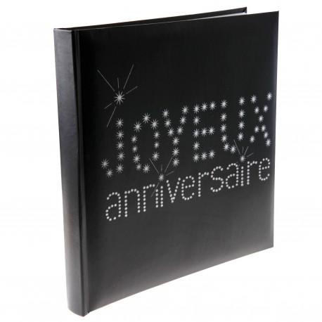 Livre d'or anniversaire noir