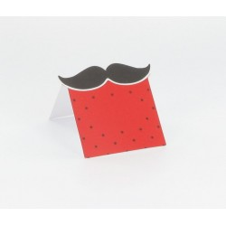 10 Cartes de table moustache