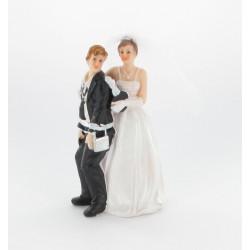 "Figurine de mariés "" homme cadenassé"""