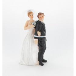 "Figurine de mariés ""homme en otage"""