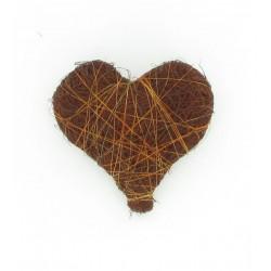 Mini coeur sisal chocolat