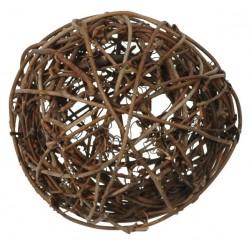 Assortiment 10 boules rotin 3,4 et 7cm