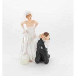 """Figurine de mariés """"homme à genoux"""" N°2"""