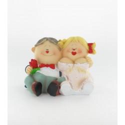 """Figurine de mariés """"coeur"""""""