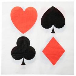 10 serviettes Poker