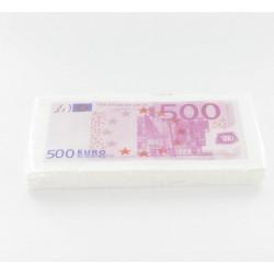 10 serviettes en papier billet 500 _