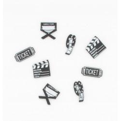 16 confettis de table cinéma