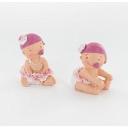 Bébé fille bonnet rose 5cm