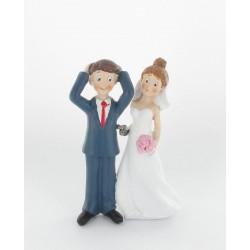 Figurine de mariés avec pistolet