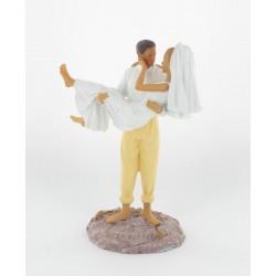 Figurine mariés sur la plage