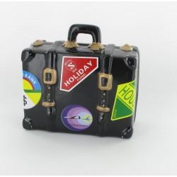 Tirelire valise noire 14x10cm