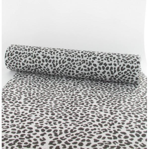 chemin de table l opard blanc et noir 30cmx5m id f tes. Black Bedroom Furniture Sets. Home Design Ideas