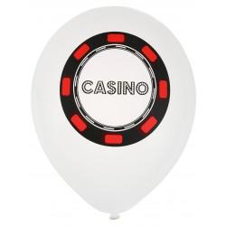 Ballons Poker blancs (x8)