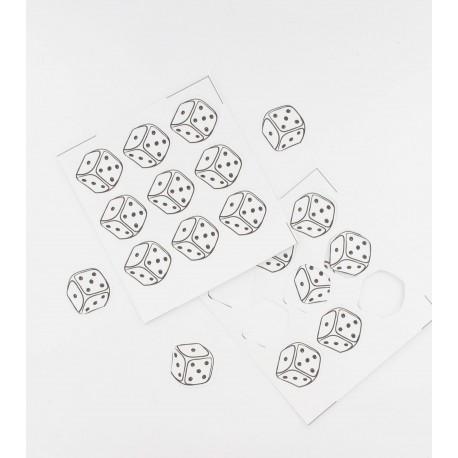 54 confettis dés