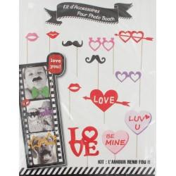 """Kit """"photobooth"""" moustache lunettes (x12)"""