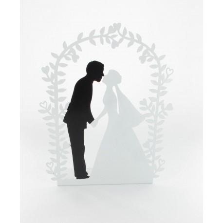 Figurinede  mariés sous arche en métal