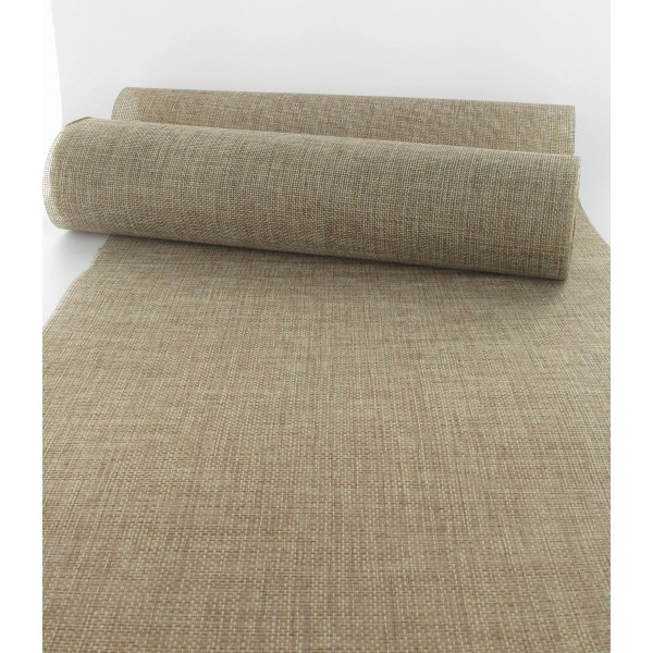 Chemin table jute naturel elegant uibuyi x rustic burlap - Chemin de table en toile de jute ...