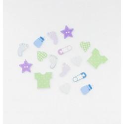 Confettis de table Bapteme (x16)