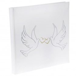 Livre d'or colombe blanche