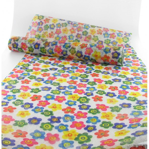 chemin de table fleurs multi 30cmx5m id f tes. Black Bedroom Furniture Sets. Home Design Ideas