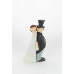 Figurine mariés dos a dos