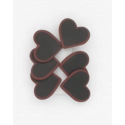 6 coeurs  sur pince 4cm