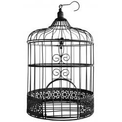 Urne cage à Oiseaux noire décorative