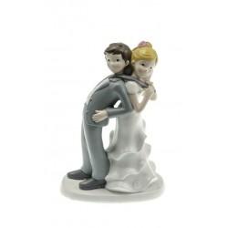Figurine mariés cravate