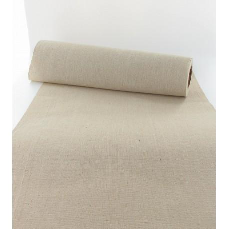 chemin de table en lin naturel beige 29cm x 5m