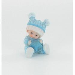 Bébé assis garçon bleu 5,5cm