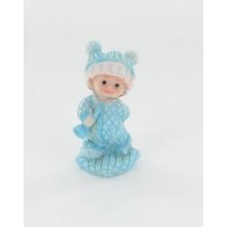 Bébé debout garçon bleu 7cm