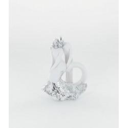 Figurine mariés blanc-gris 10,5cm