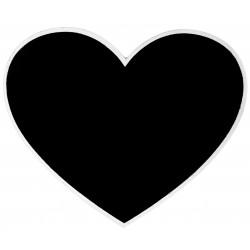 Marque table ardoise coeur blanc