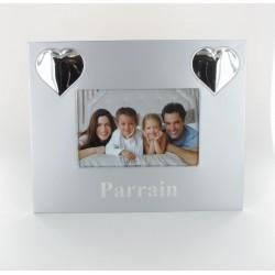 Cadre photo PARRAIN inox 24.5x19cm
