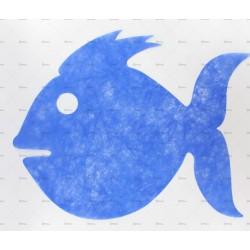 10 sets de table poisson bleu