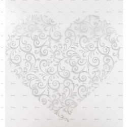 10 sets de table coeur arabesques argent
