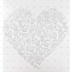 10 sets de table coeur arabesques argent