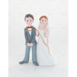 Couple mariés avec corde 15cm