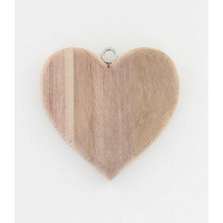 Coeur en bois naturel 10cm