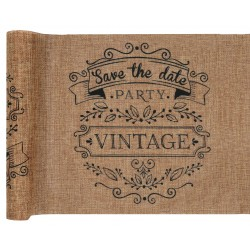 "chemin de table vintage ""save the date"""