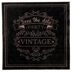 "20 serviettes vintage ""save the date"""