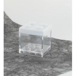 Boite cube légo blanc