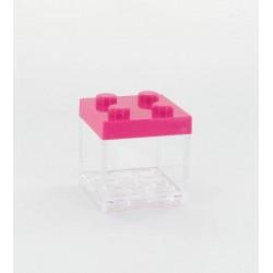 Boite cube légo fuchsia