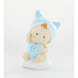 Bébé bleu 12cm tirelire