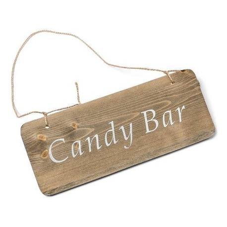 Pancarte bois candybar 25x10cm