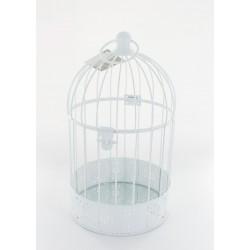 Cage à oiseau en fer blanc