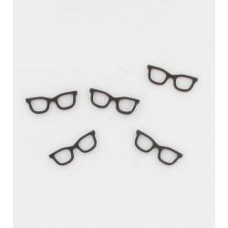 24 lunettes bois noires 2,8cm