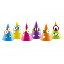 6 chapeaux monster à décorer
